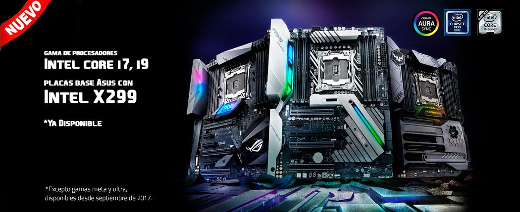 Nuevos procesadores intel Core i9 y placas base X299