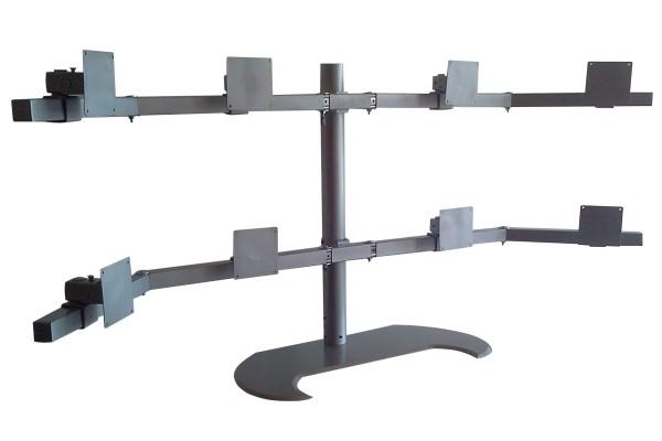 Soporte para 8 monitores VESA (4+4)